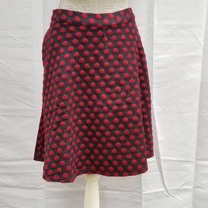 ModCloth Circle Retro Knit Skirt Rockabilly Skater